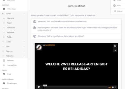 1upSneakers Fragebereich