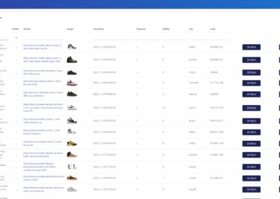 1upSneakers Admin Verwaltung